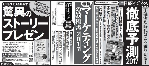 2016年12月25日掲載 日本経済新聞 朝刊