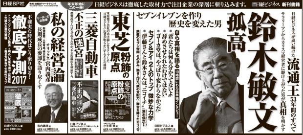2016年12月28日掲載 日本経済新聞 朝刊