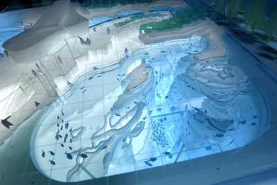 上越市立水族博物館の模型写真(写真:日本設計)